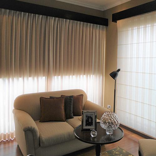 cortinas con cenefa